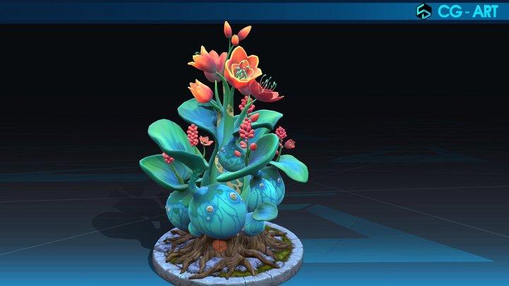 Hand paint Flower 3D Model