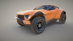 Zarooq Sand Racer Car 3D Model