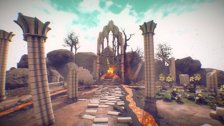 Firesword Shrine by day 3D Model