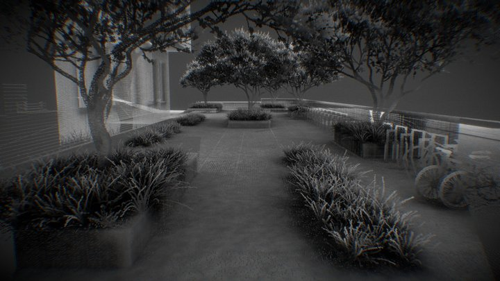 Urban Garden in Glattbrugg Zürich (AO) 3D Model