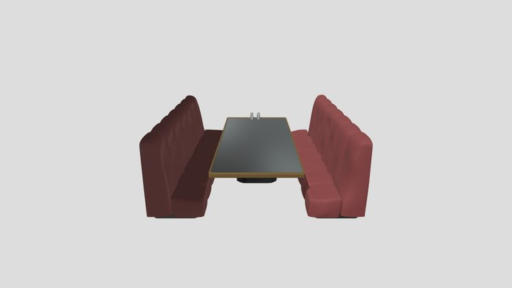 Sofa_Cafe_HP 3D Model