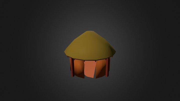 Round Mud Hut 3D Model