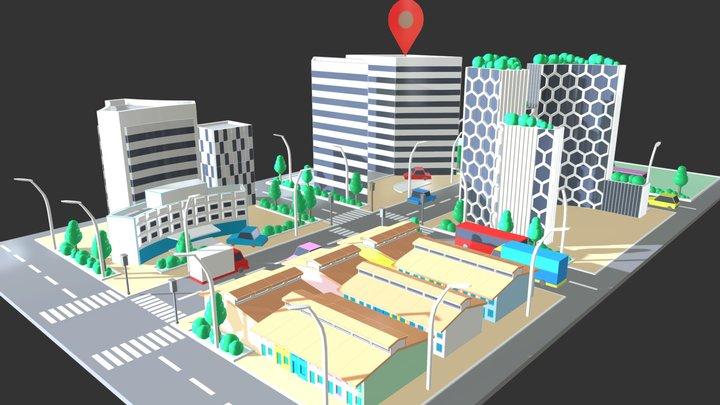 Street View Singapore 3D Model