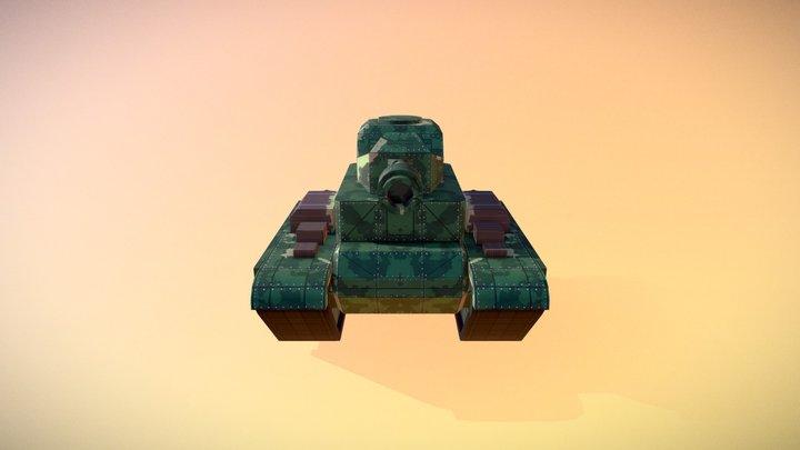 Toy Tank 3D Model