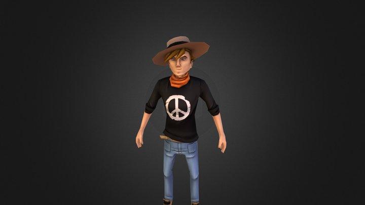 Young Cowboy 3D Model