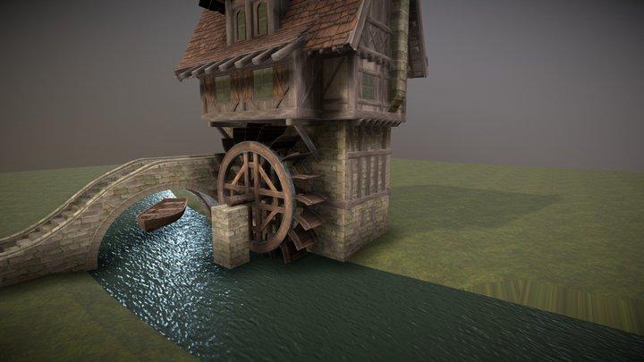 WIP Water Mill 3D Model