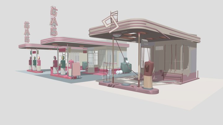 gas_stations 3D Model