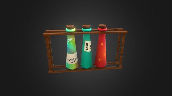 Magic experiment potions 3D Model