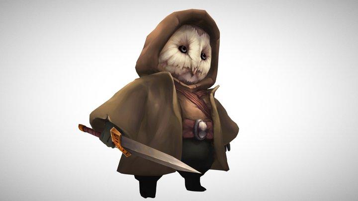 Little Owl Warrior 3D Model