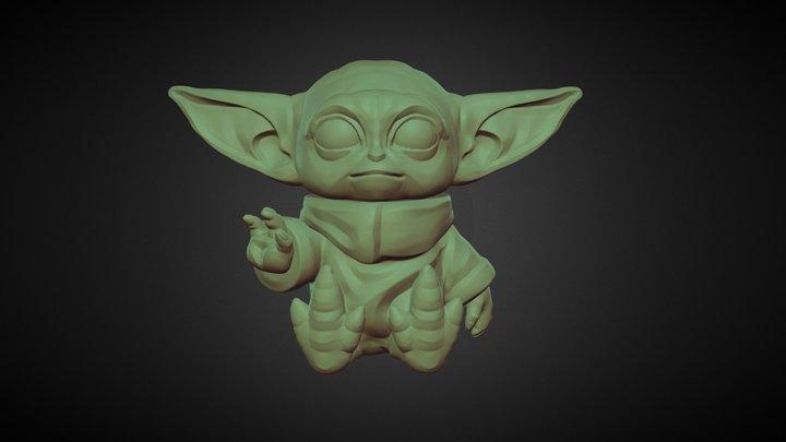 Baby Yoda 3D Printable 3D Model