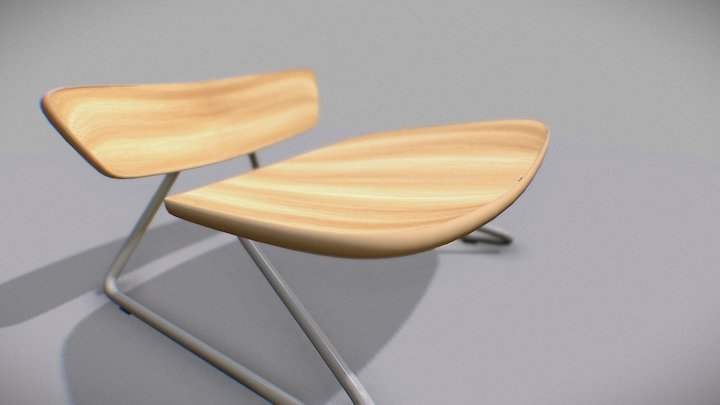 Molded Plywood Chair 3D Model