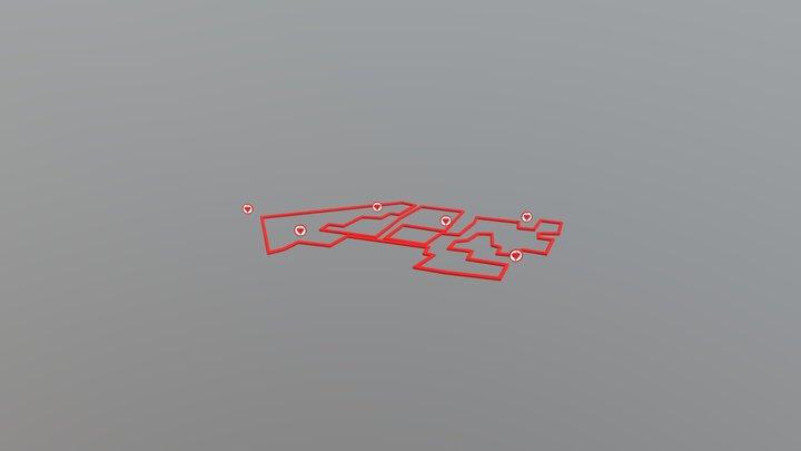 Path of hearts 3D Model