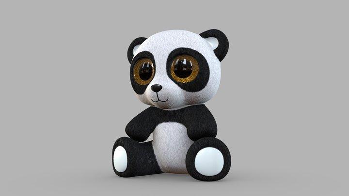 Panda Plush Toy 3D Model