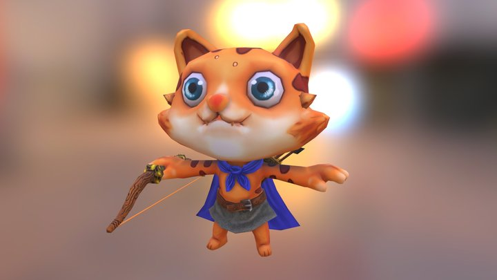 Archer Cat 3D Model