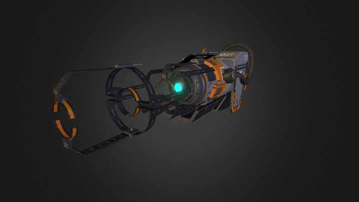 Pulse Cannon 3D Model