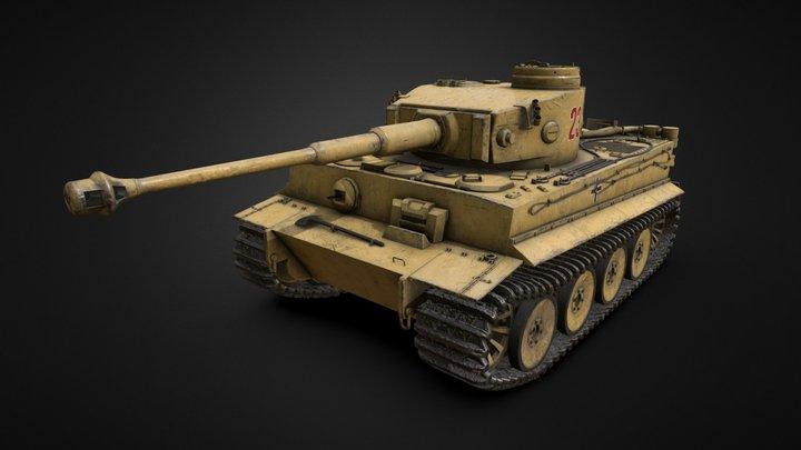 Tiger I (Panzerkampfwagen VI) - WW2 Tiger Tank 3D Model