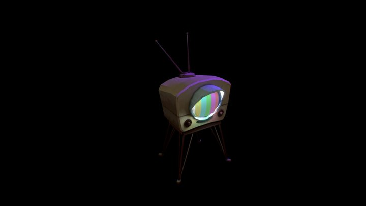 Cute Analog TV 3D Model