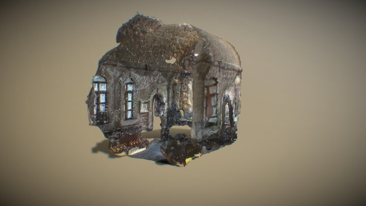 Tarihi Kız Meslek Lisesi İç Mekan - Mardin 3D Model
