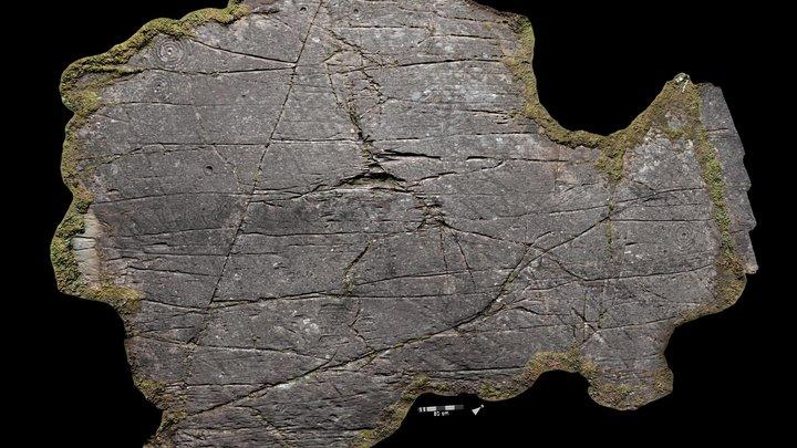 Achnabreck, upper panel SW, Kilmartin Glen 3D Model