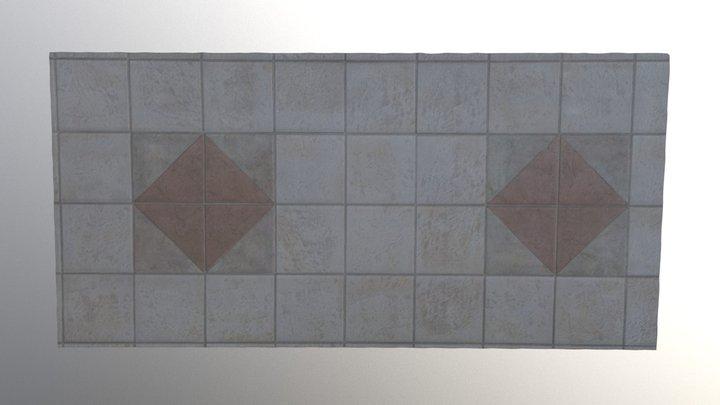 Tiled Floor Diamond Squares 3D Model