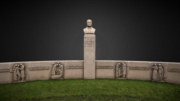 Statue Claudius Gallet - Annecy 3D Model