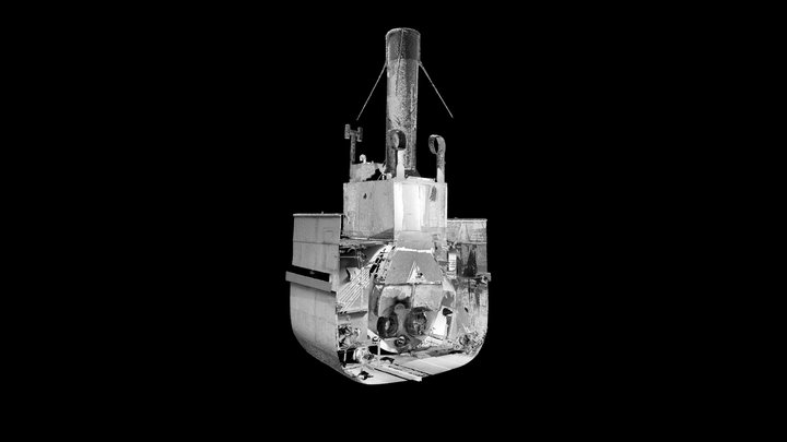 SS Robin - 3D Point Cloud (V,B) - Boiler 3D Model