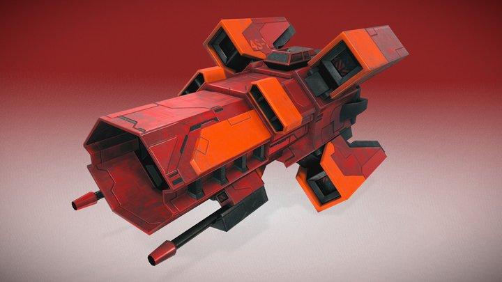 Starship Crusader 3D Model