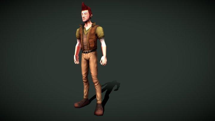 Male Adventurer 3D Model