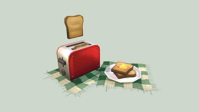 Fresh Toast Scene 3D Model
