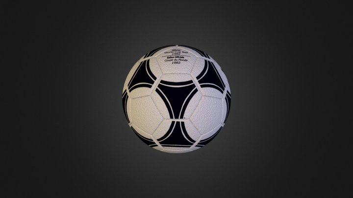the soccer ball the first 3D Model