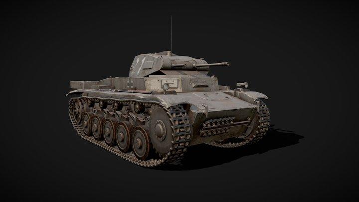 Panzer II C - Game-res model 3D Model