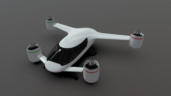 Old version - Sbx eVTOL flying Vehicle Concept 3D Model