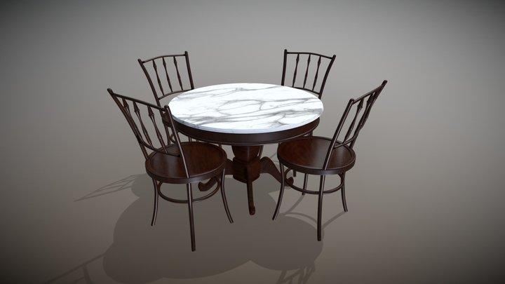 Coffeeshop Furniture Set 3D Model