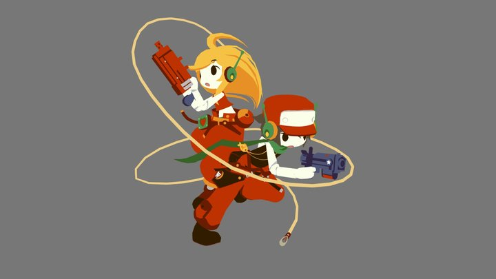 Cave Story - Curly and Quote Model Sketch 3D Model