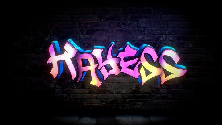 3D Graffiti - Kayess 3D Model