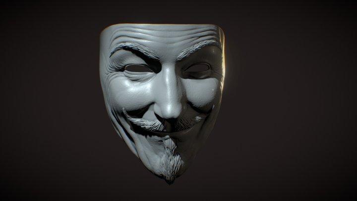 Vendetta Mask 3D Model