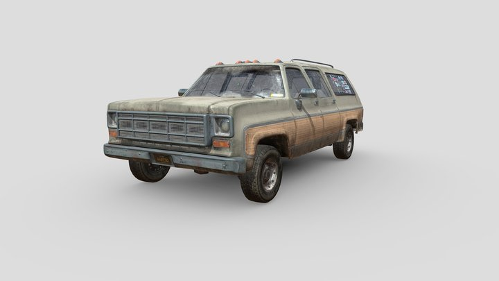 1977 Old Truck 3D Model