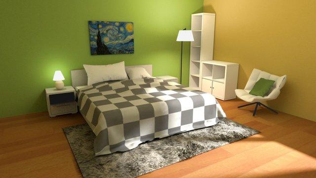 Mini Project: Bedroom on Sketchfab 3D Model