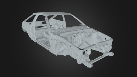 ae86 chassis scan 3D Model