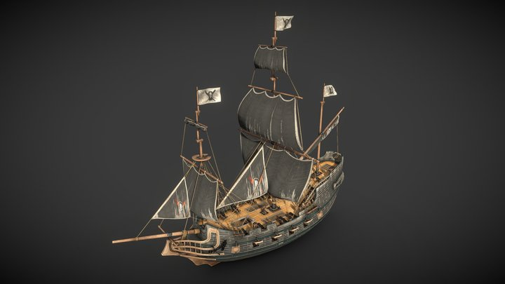 Shorecut - Galleon 3D Model