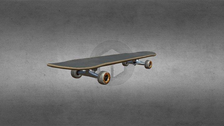 A skateboard 3D Model
