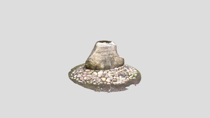 Gedenkstein - Staaliche Tiefbohrung 3D Model