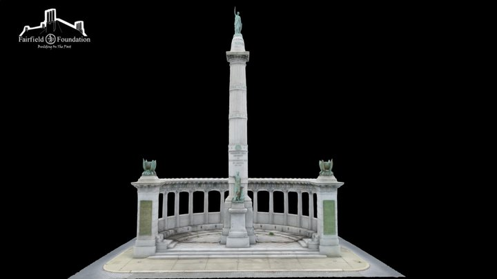 Jefferson Davis Monument 3D Model