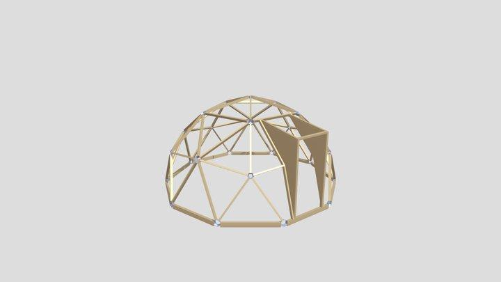 Thunder Domes 2V Geodesic Timber Dome 3D Model