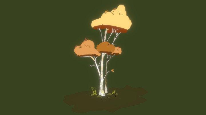 Autumn Tree 3D Model
