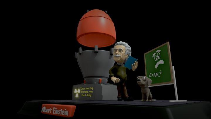Albert Einstein 3D Printing 3D Model