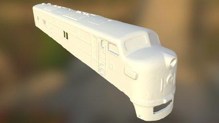 Streamliner Locomotive - Fine Detail Scan Test 3D Model