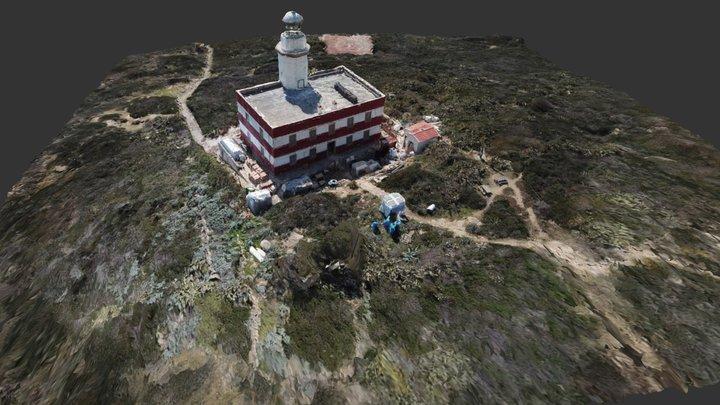 Modello 3D del Faro di Capel Rosso 3D Model