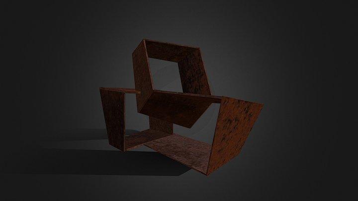 Construcción con tres cuboides vacíos, 1958 3D Model