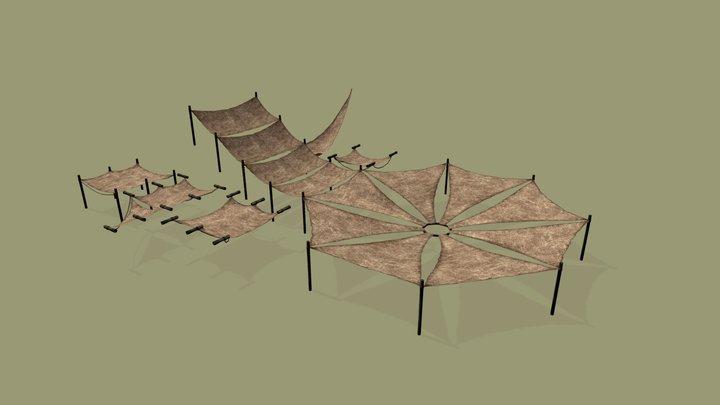 Guar Leather Overhangs - Arvud (Morrowind) 3D Model